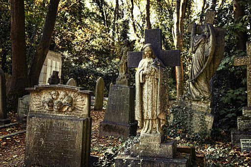 """ N.E.C.R.O.P.O.L.I.S ""...CEMETERIES OF LONDON, HIGHATE, BROMPTON, ABNEY PARK....1"